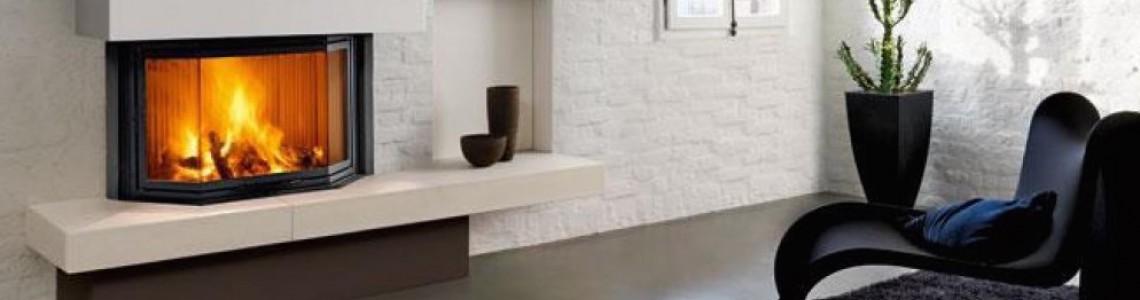 Дизайн камінів у формі призми