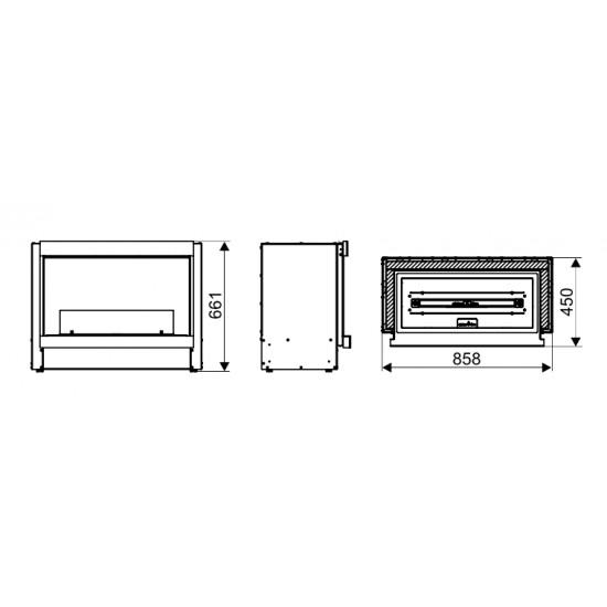 Біокамін Ebios-Fire Built-In Fireplace 1V Automatic