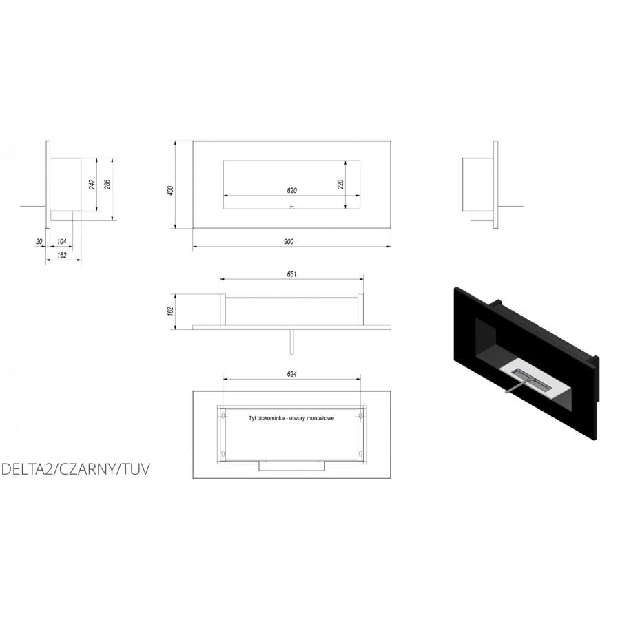 Біокамін Kratki DELTA 2 чорний