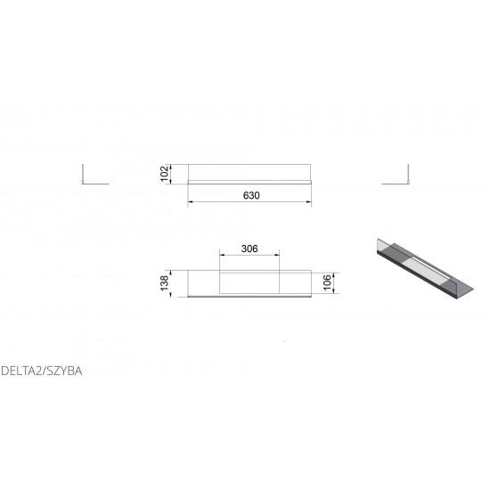 Скління біокаміна Kratki DELTA 2