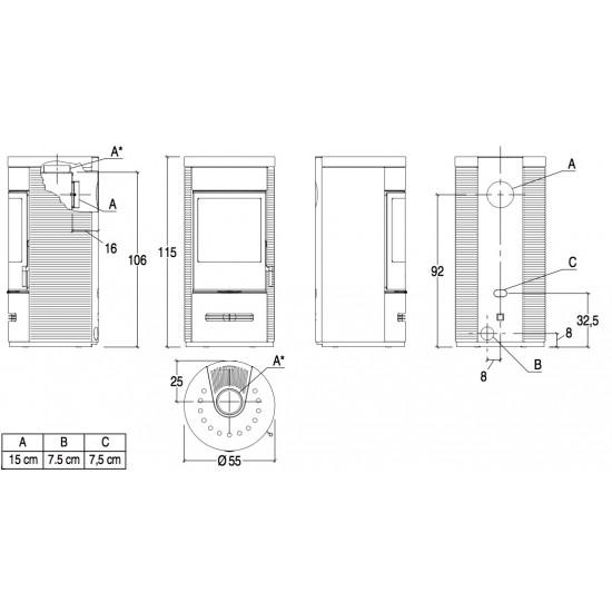 Піч Piazzetta E929 D Hermetic BCS