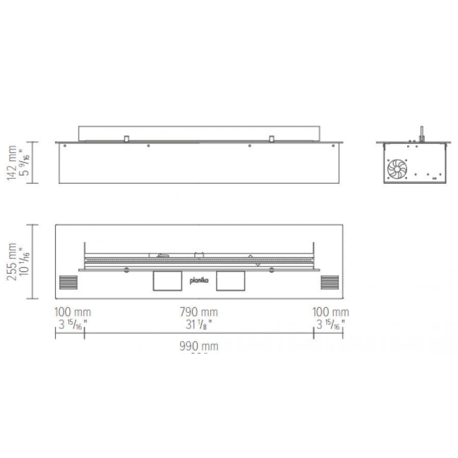 Біокамін Planika Fire Line Automatic 2 Model E