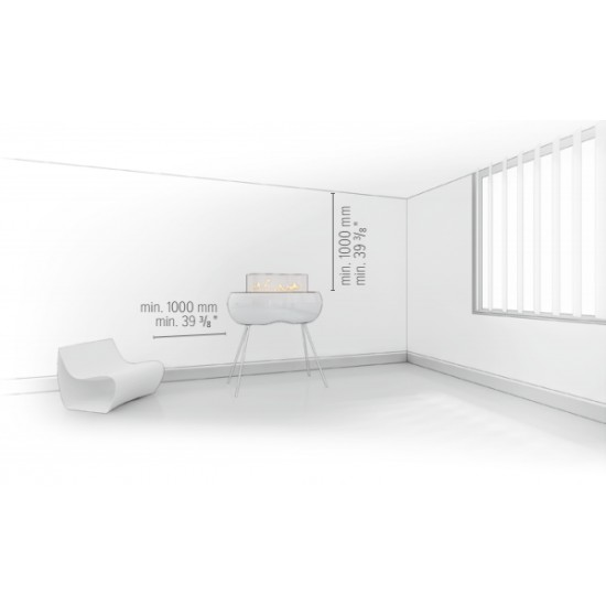 Біокамін Planika Zen High Black/White