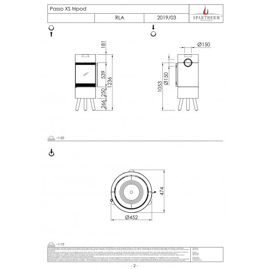 Піч Spartherm Passo XS tripod
